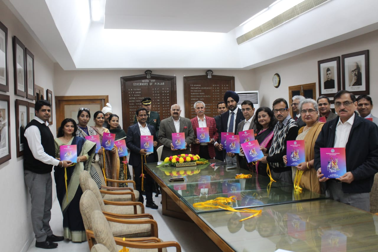 Launch of Project 'Phoenix' Booklet by Governor of Punjab and Administrator of UT Chandigarh, Sh V.P. Singh Badnore at Punjab Raj Bhawan Chandigarh on 26-11-2019